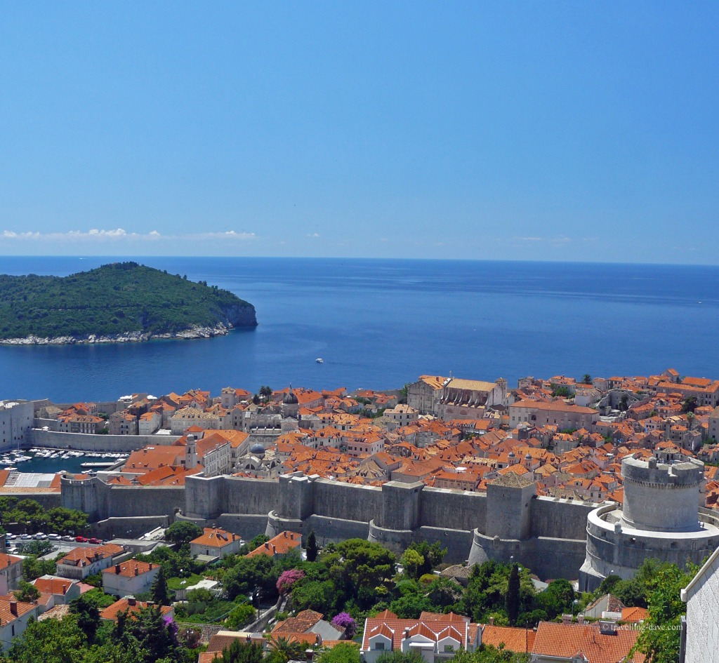 View of Dubrovnik and the Adriatic Sea