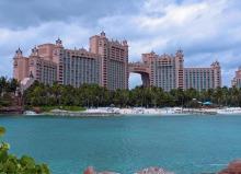 View of Atlantis Resort in the Bahamas