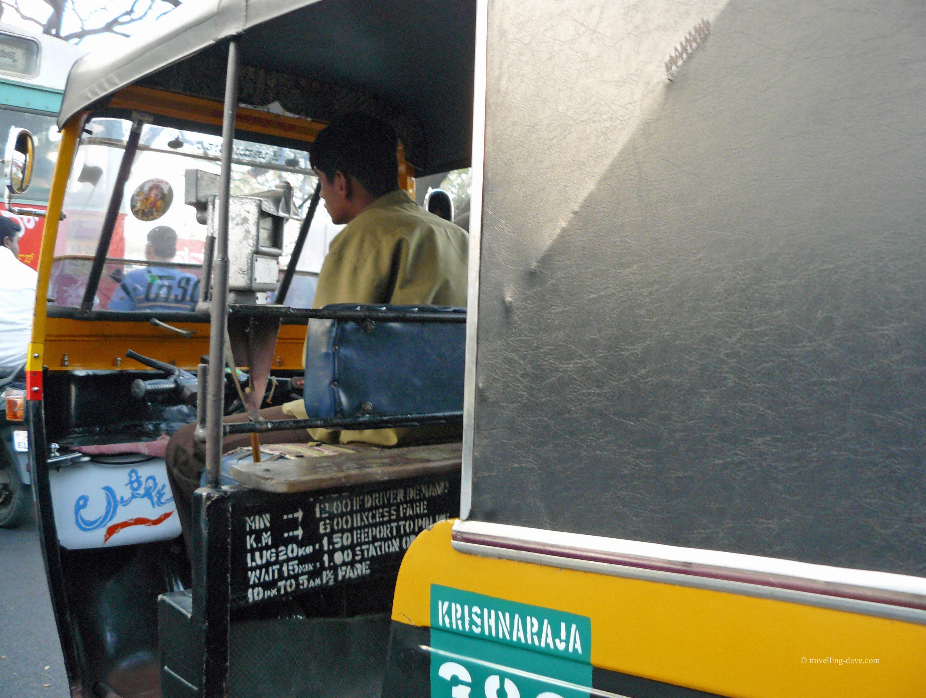 One of Mumbai's many auto rickshaws