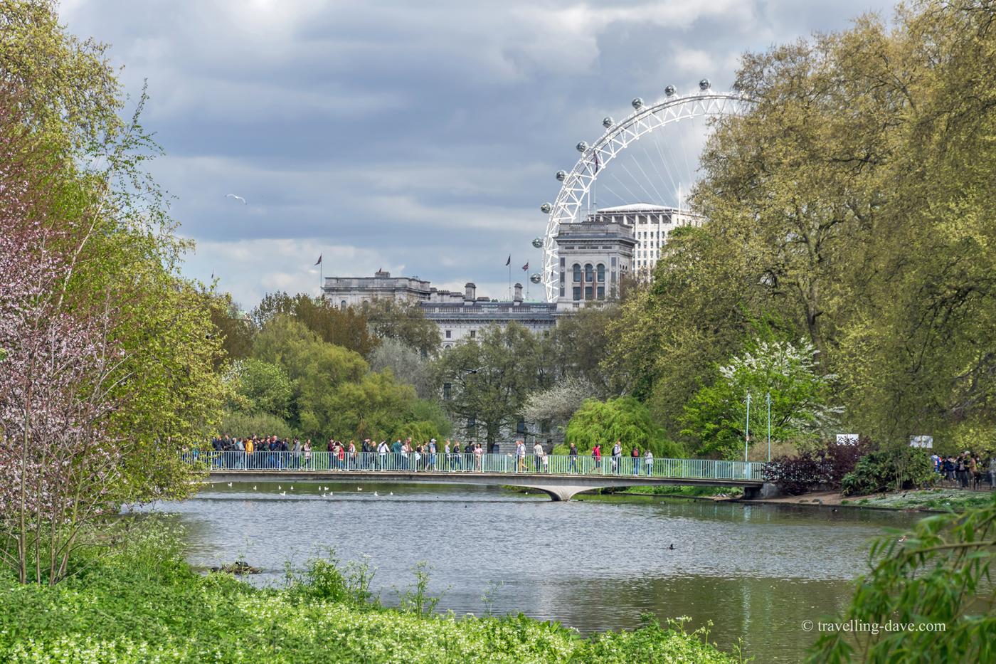 View of St.James's Park's Blue Bridge