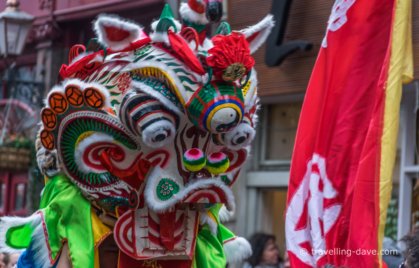 Chinese Dragon on parade in Chinatown, London