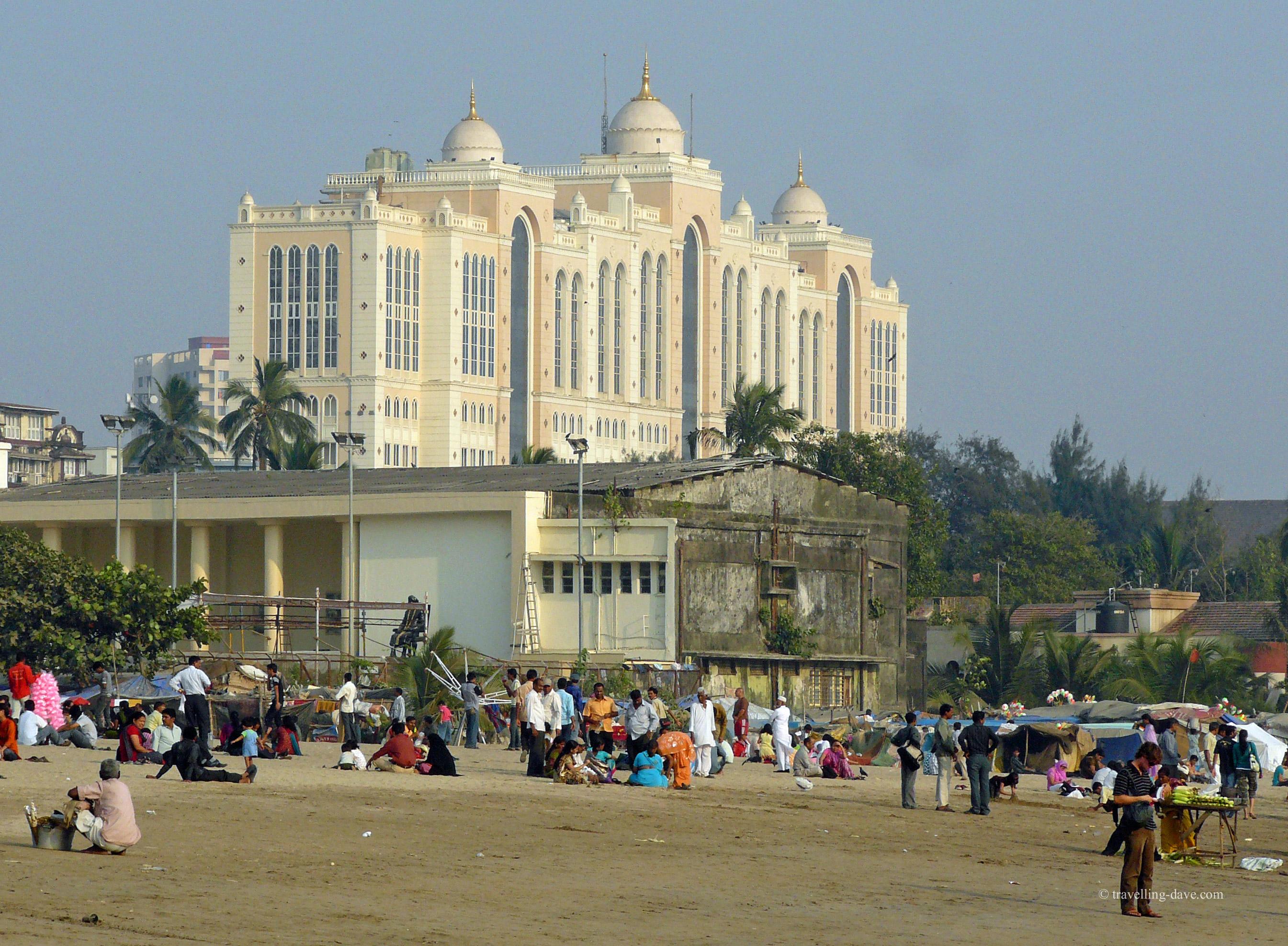 On the beach in Mumbai