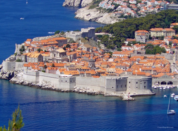 Panoramic view of the city of Dubrovnik