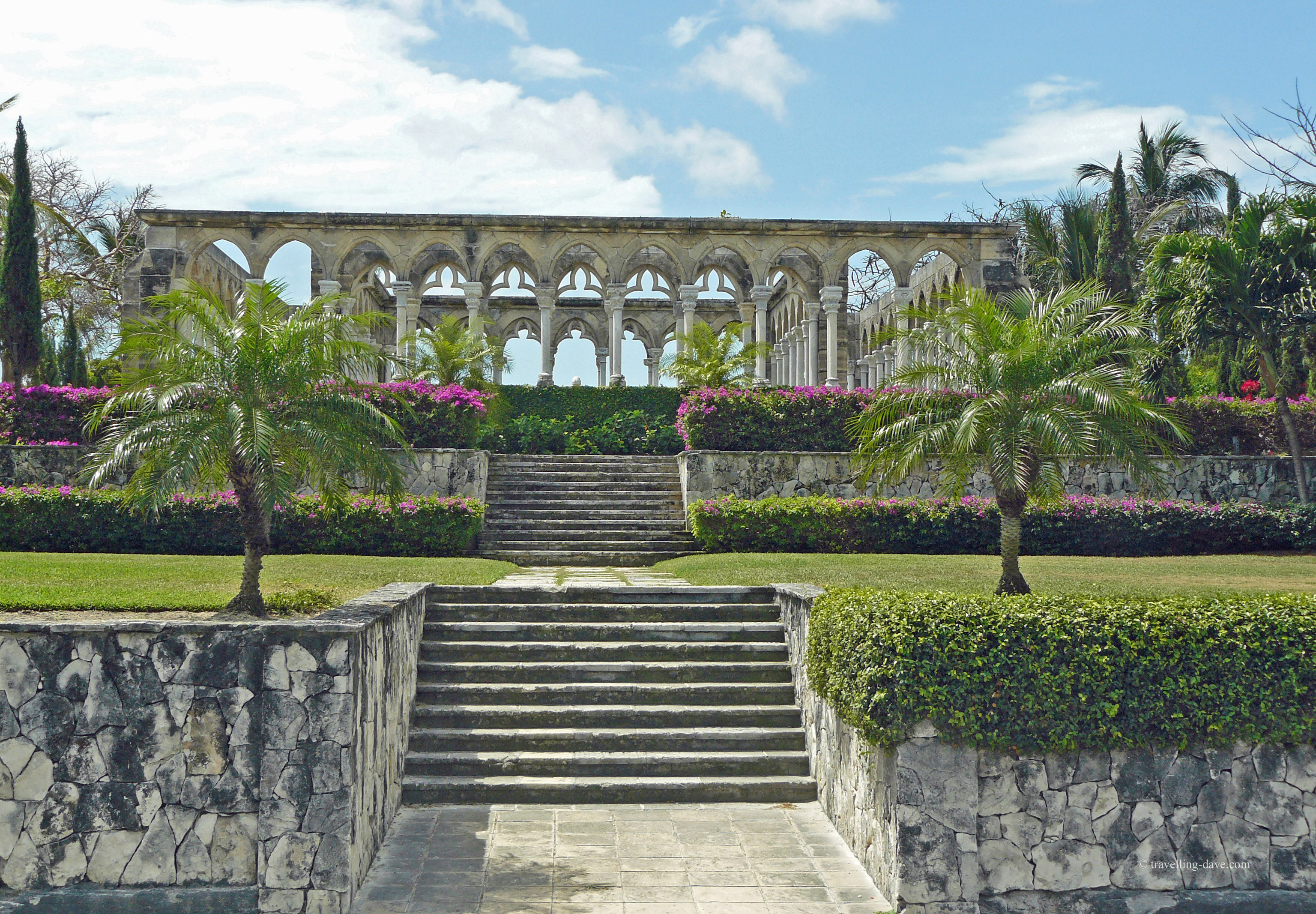 View of Versailles Gardens Cloister in the Bahamas