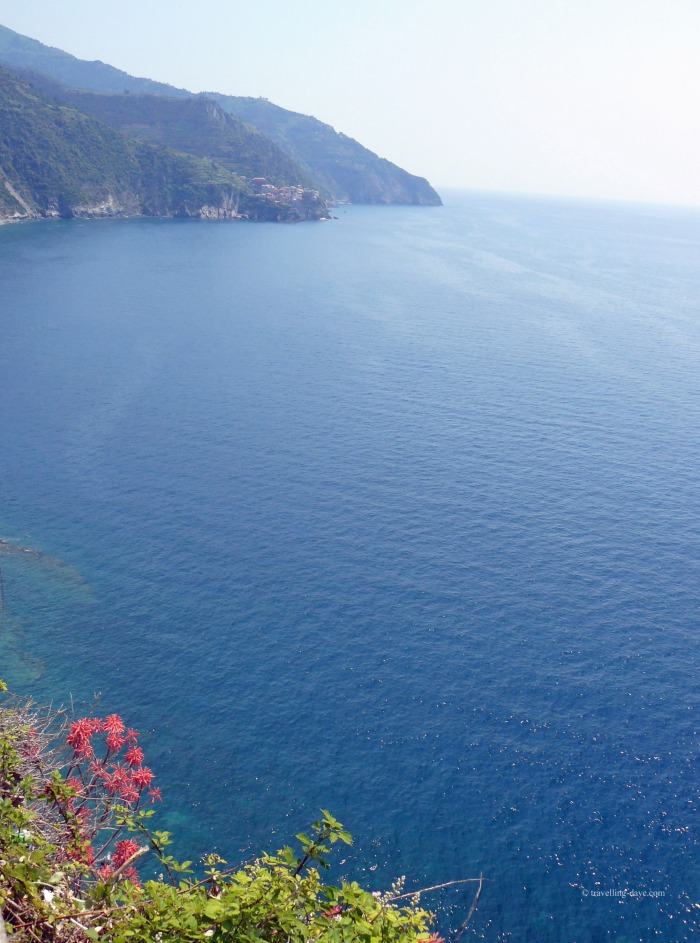 View of the sea and the coast from one of the villages of the Cinque Terre