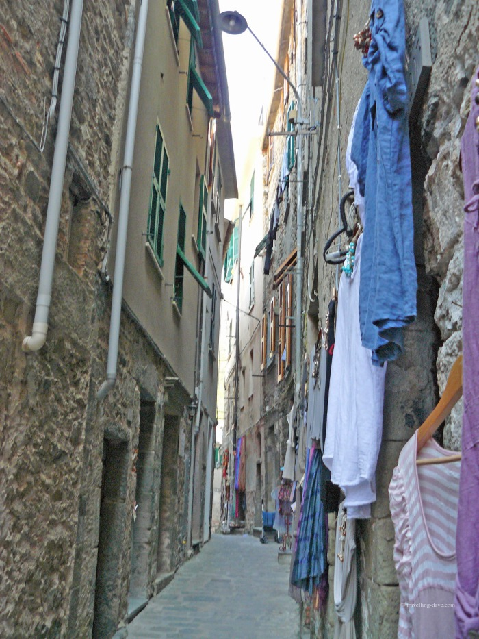 View of one of Corniglia narrow streets
