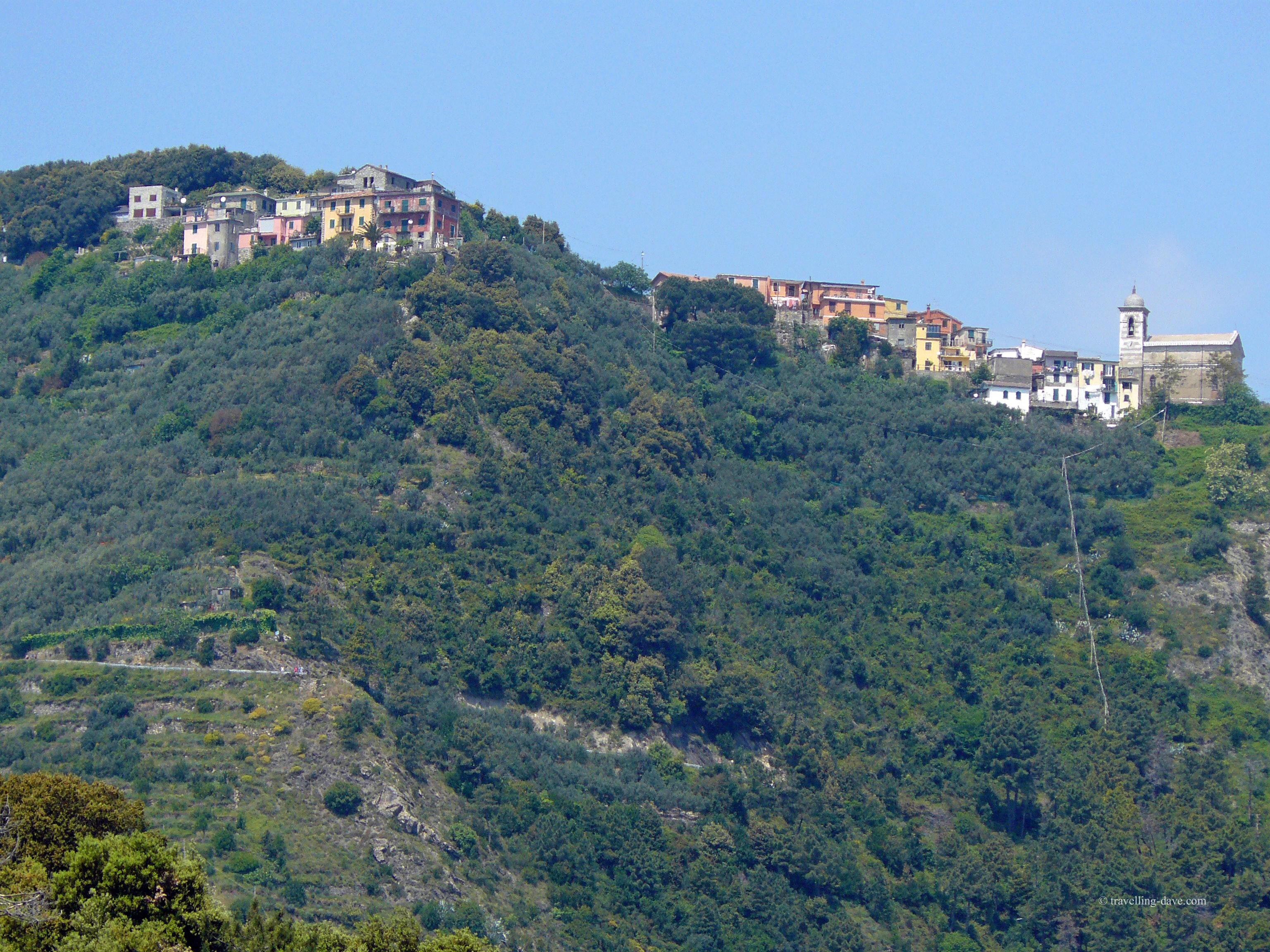 The village of Corniglia, one of the Cinque Terre in Italy