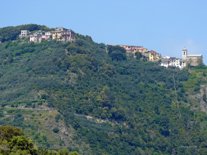 The village of Corniglia, one of the Cinque Terre in Italy
