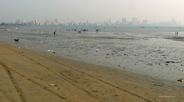 On the beach in Mumbai