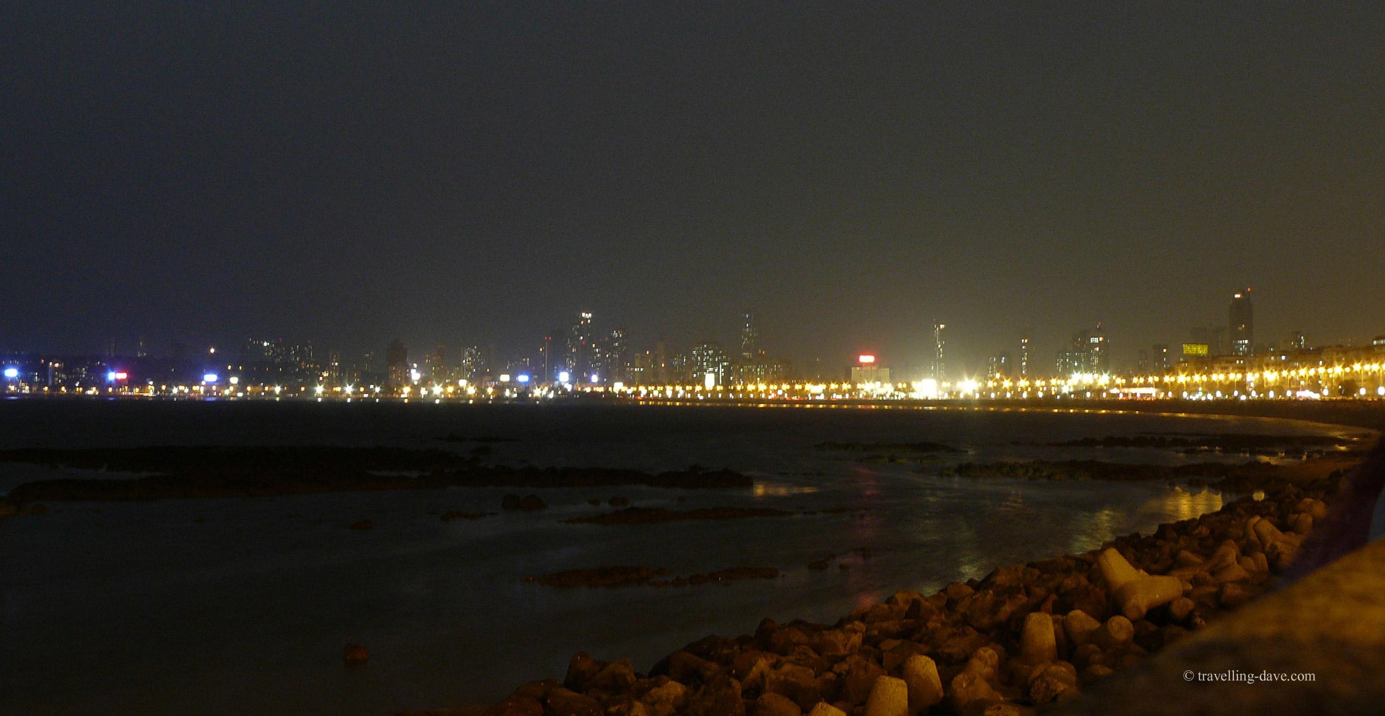 Evening at Marine Drive in Mumbai