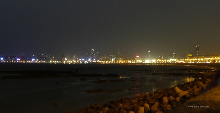 Evening at Marine Drive in Mumbai