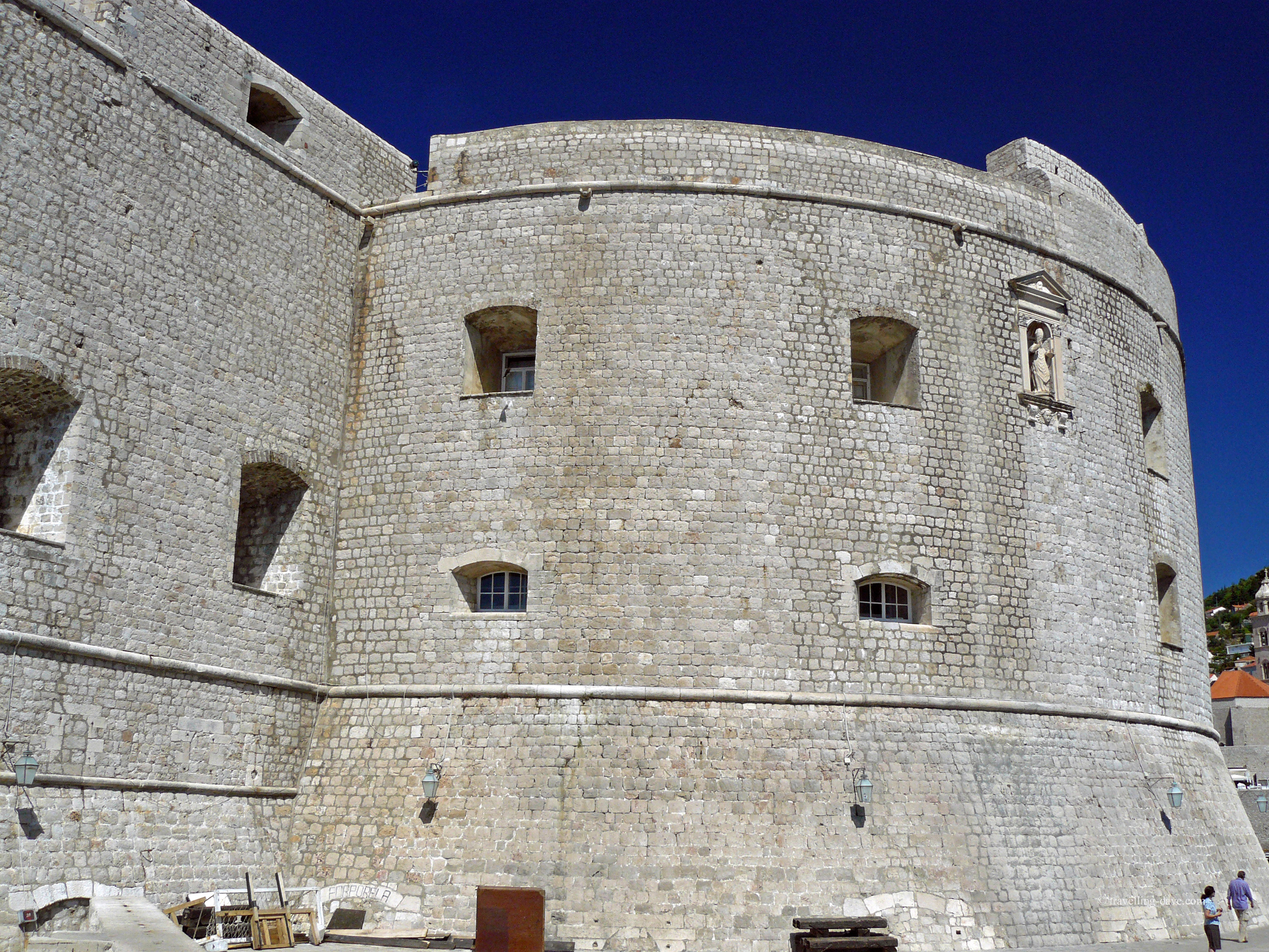 View of the outer walls of Dubrovnik's St.John's Fortress