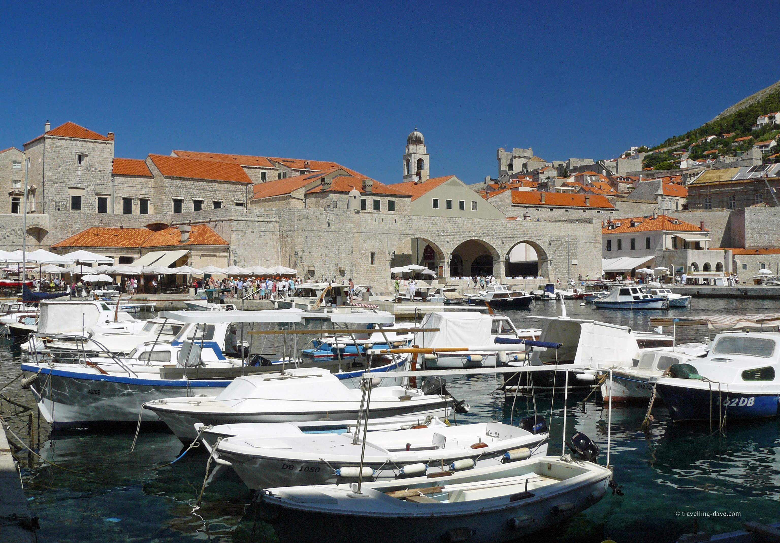 Dubrovnik harbour and boats