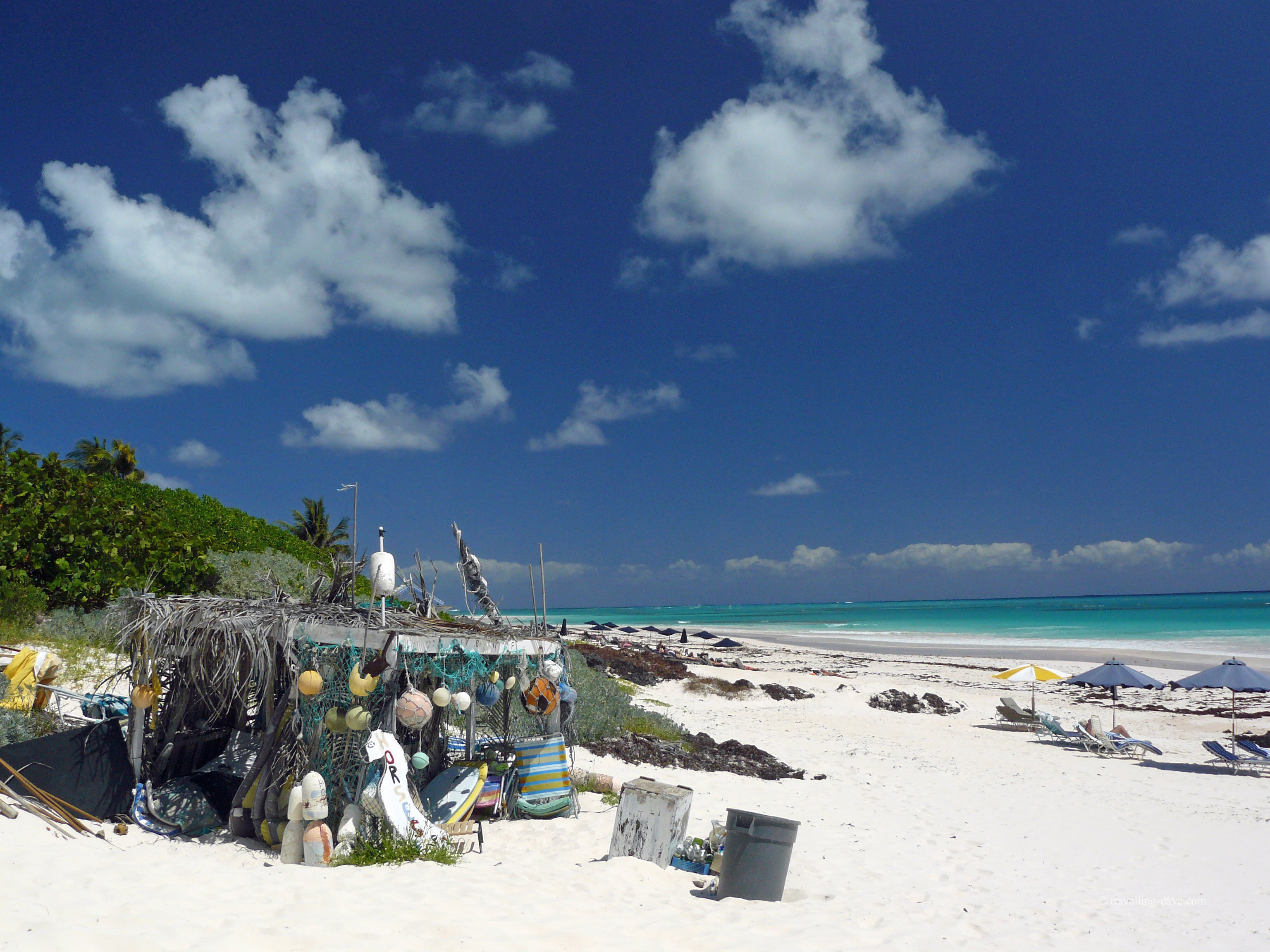 View of the beach at Harbour Island in the Bahamas