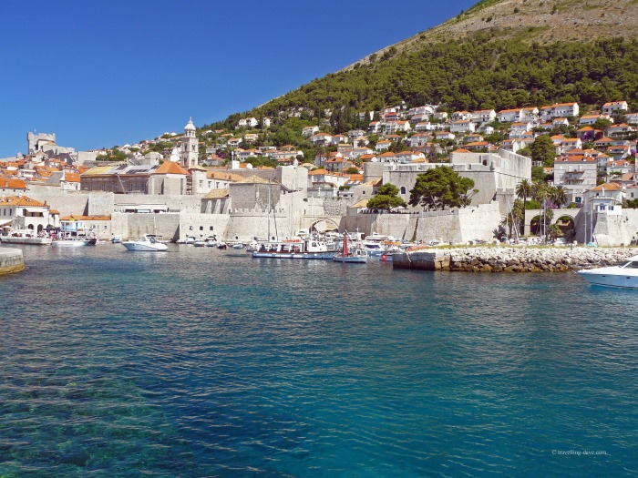 View of the city of Dubrovnik from the harbour