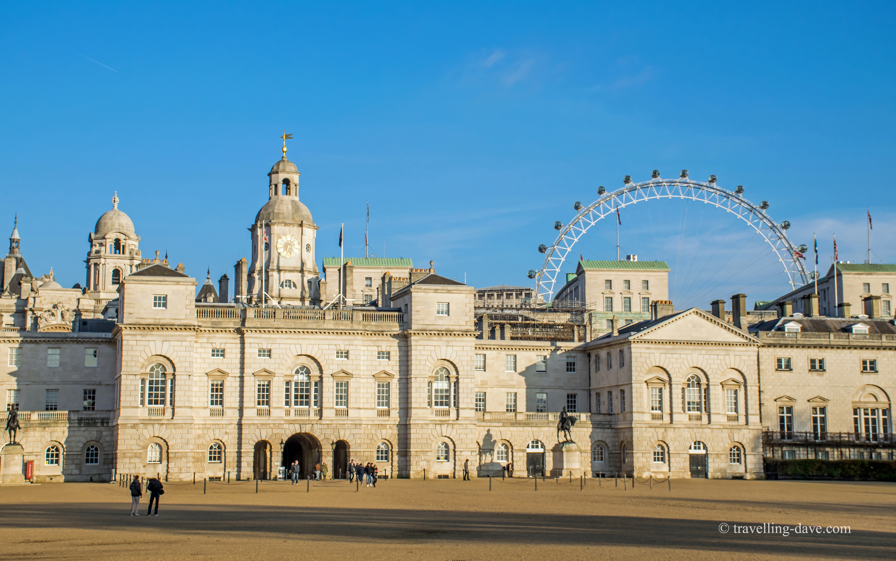 View of Horse Guards Parade and the London Eye
