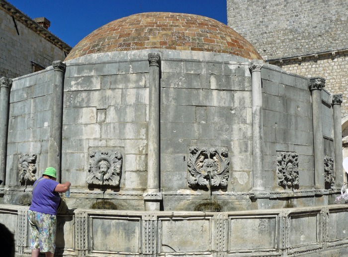 View of Dubrovnik's Onofrio Fountain