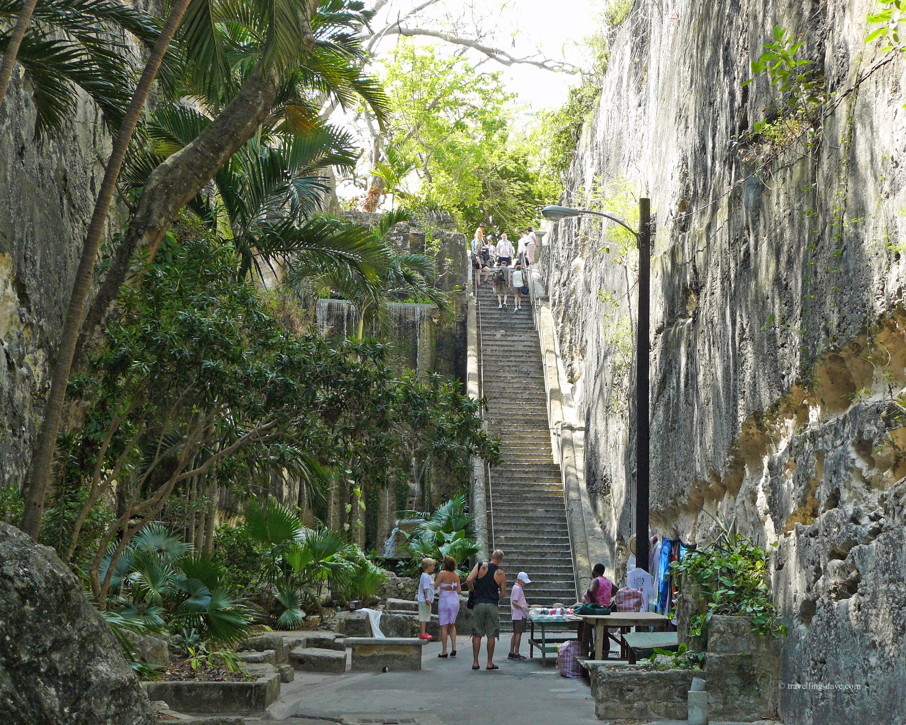 View of the Queen's Staircase in Nassau
