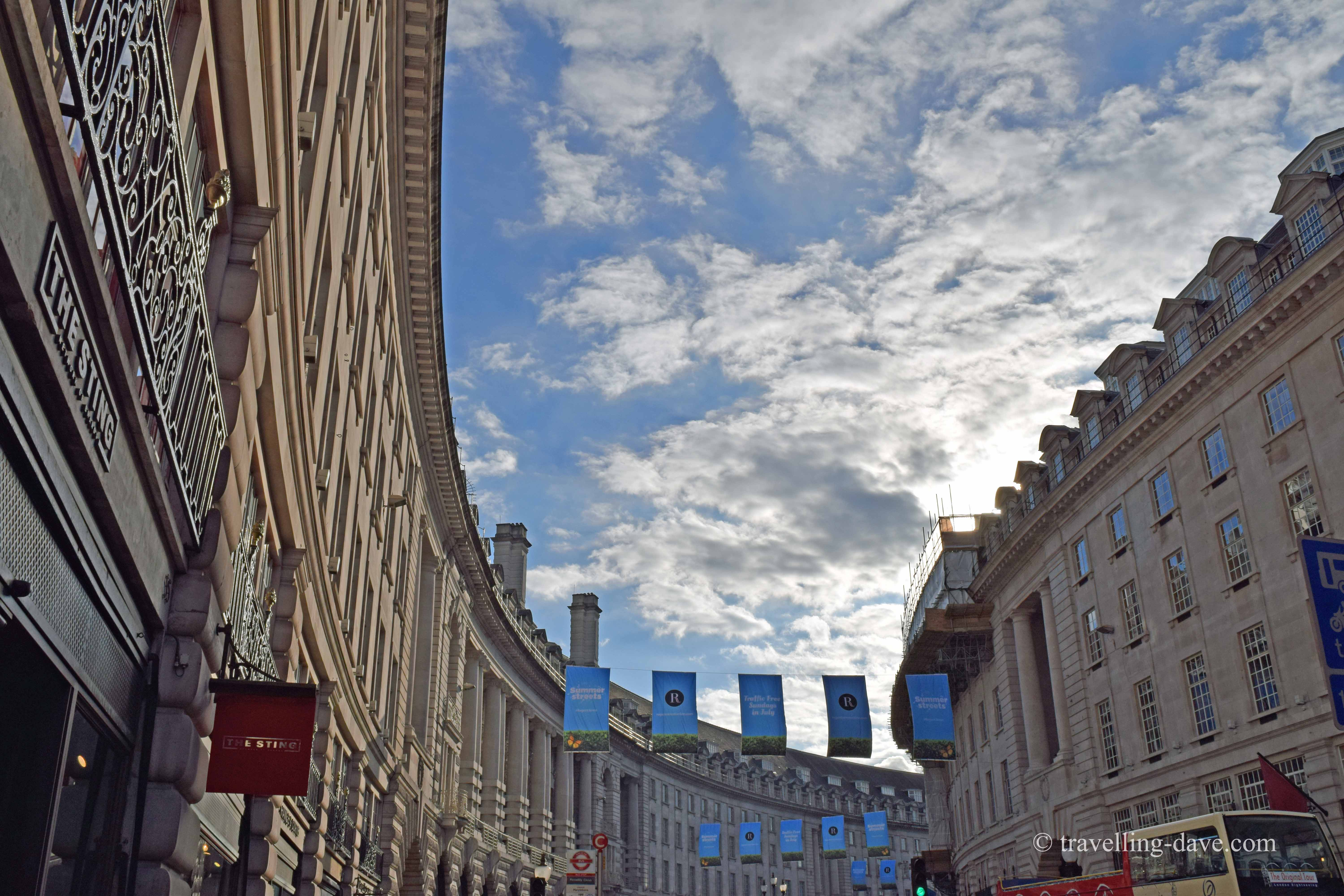 View of Regent Street from Piccadilly Circus