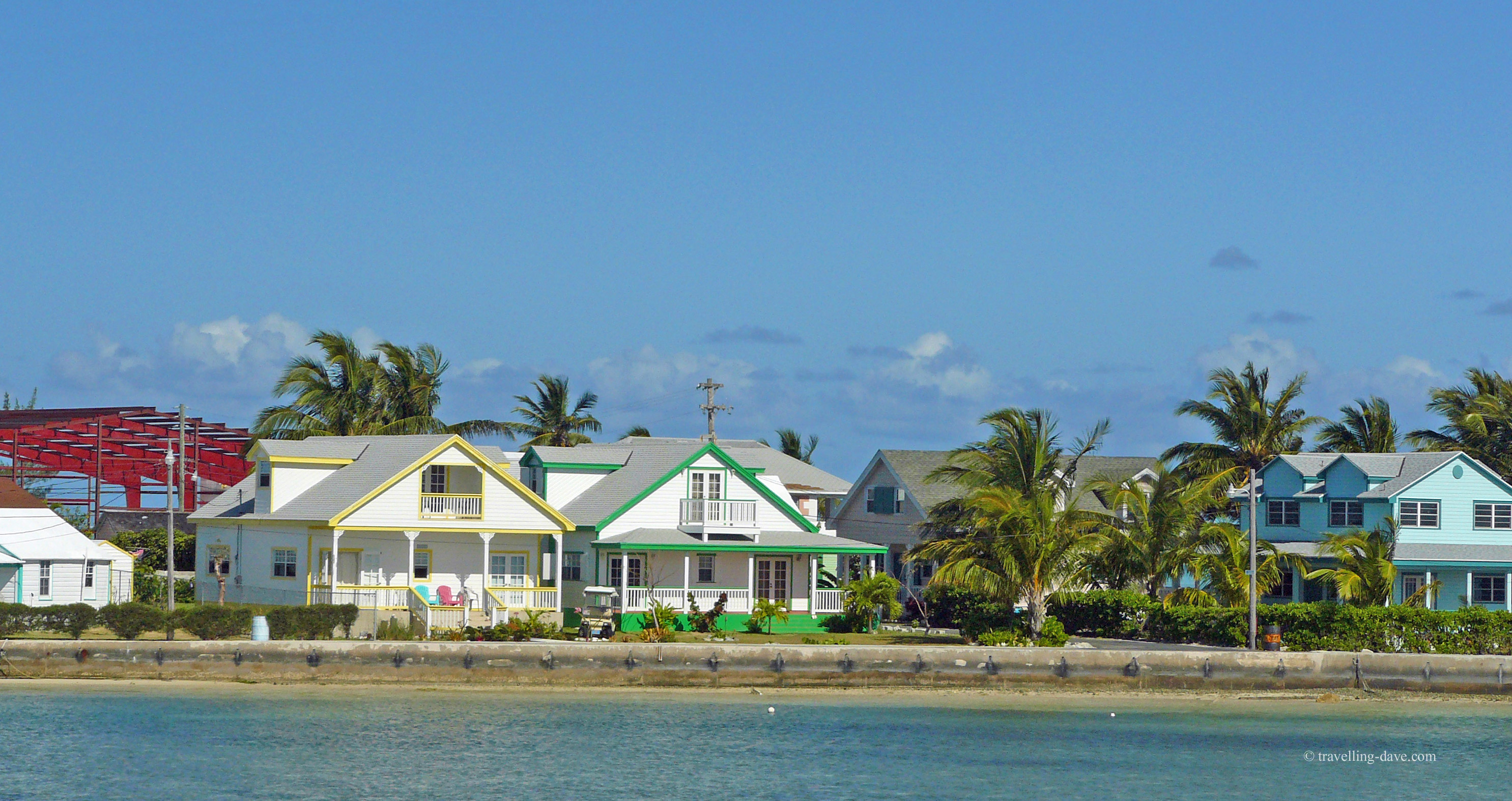View from the ferry of Spanish Wells in the Bahamas