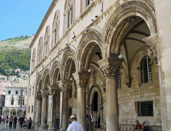View of Dubrovnik's Sponza Palace