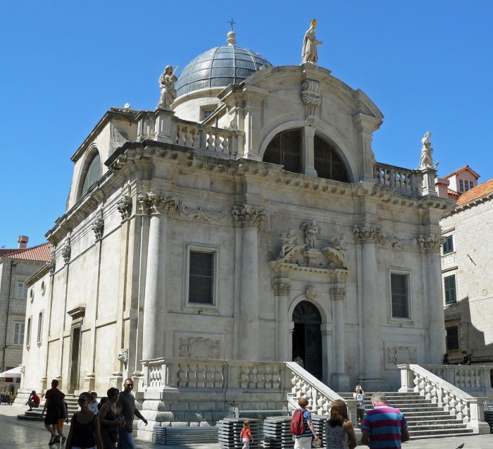 View of Dubrovnik's St.Blaise Church