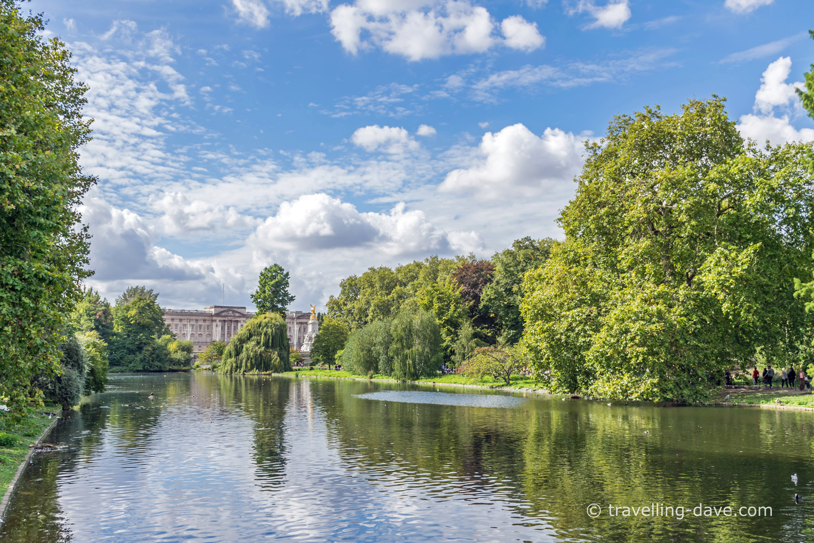 View from the Blue Bridge in St.James's Park in London