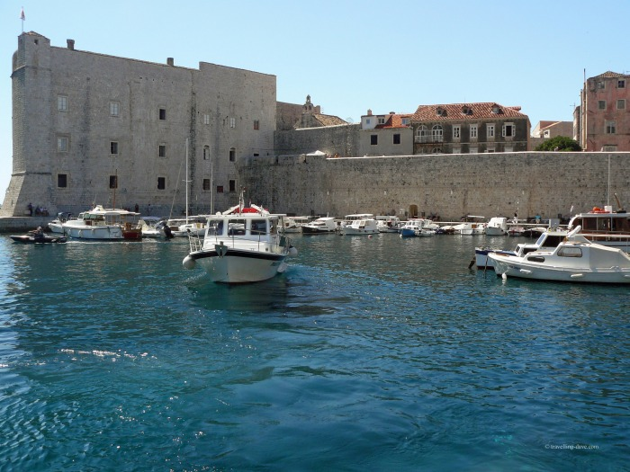 Boats by St.John's Fortress in Dubrovnik