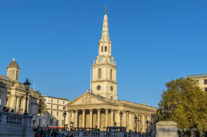 View of St.Martin-in-the-Fields church in London
