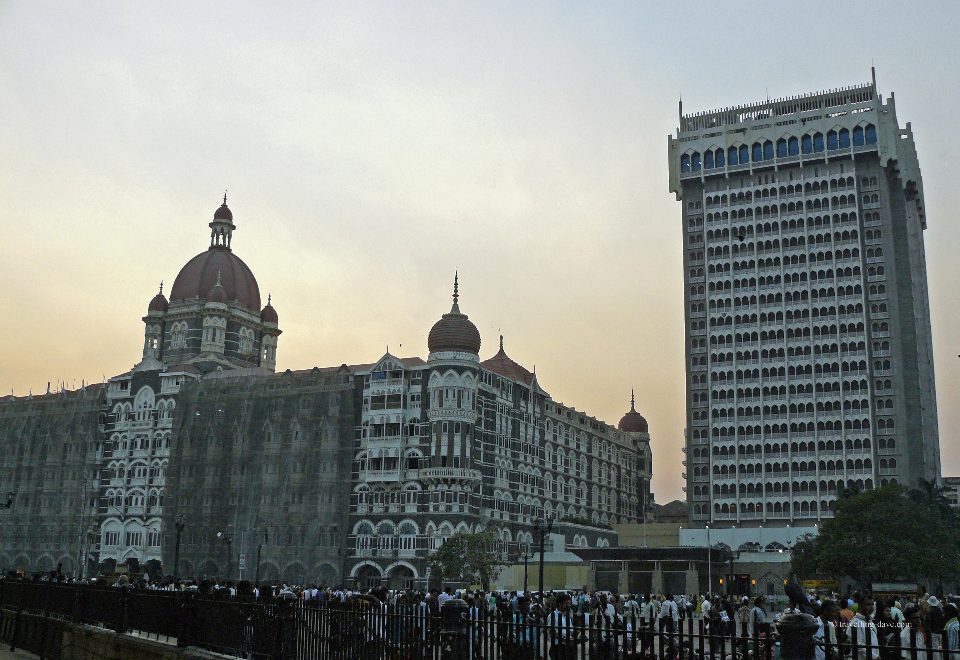 View of the Taj Mahal Palace Hotel in Mumbai