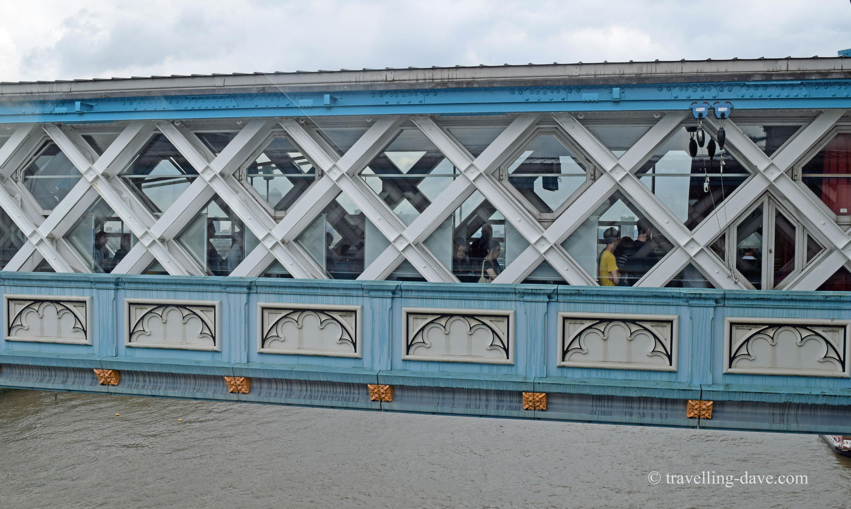 View of one of Tower Bridge's walkways