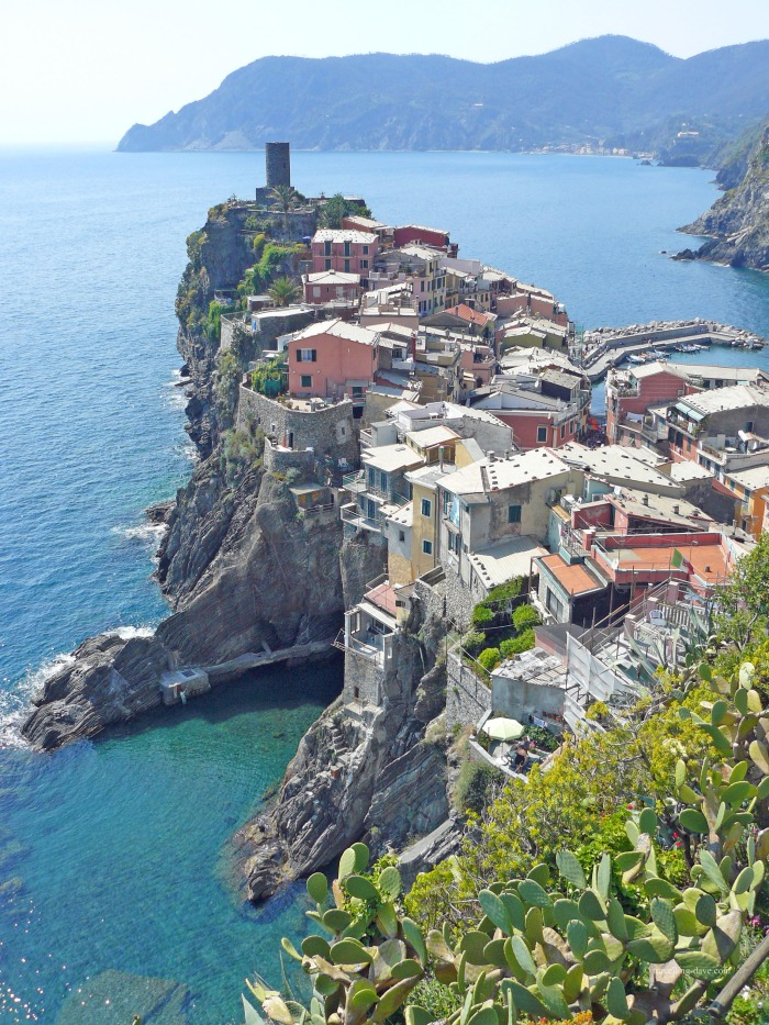 Classic view of the village of Vernazza in Italy