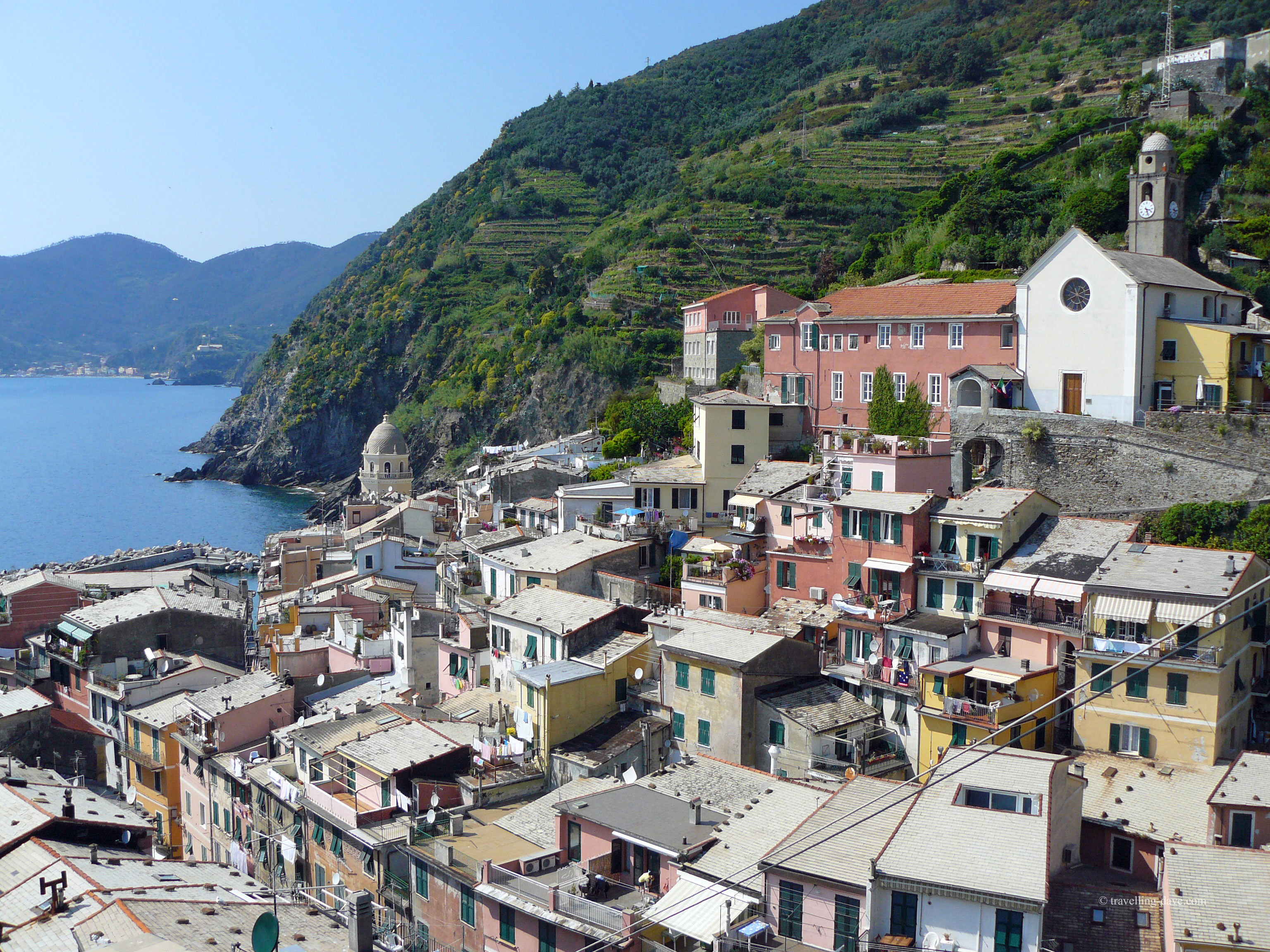 View of the village of Vernazza in Italy