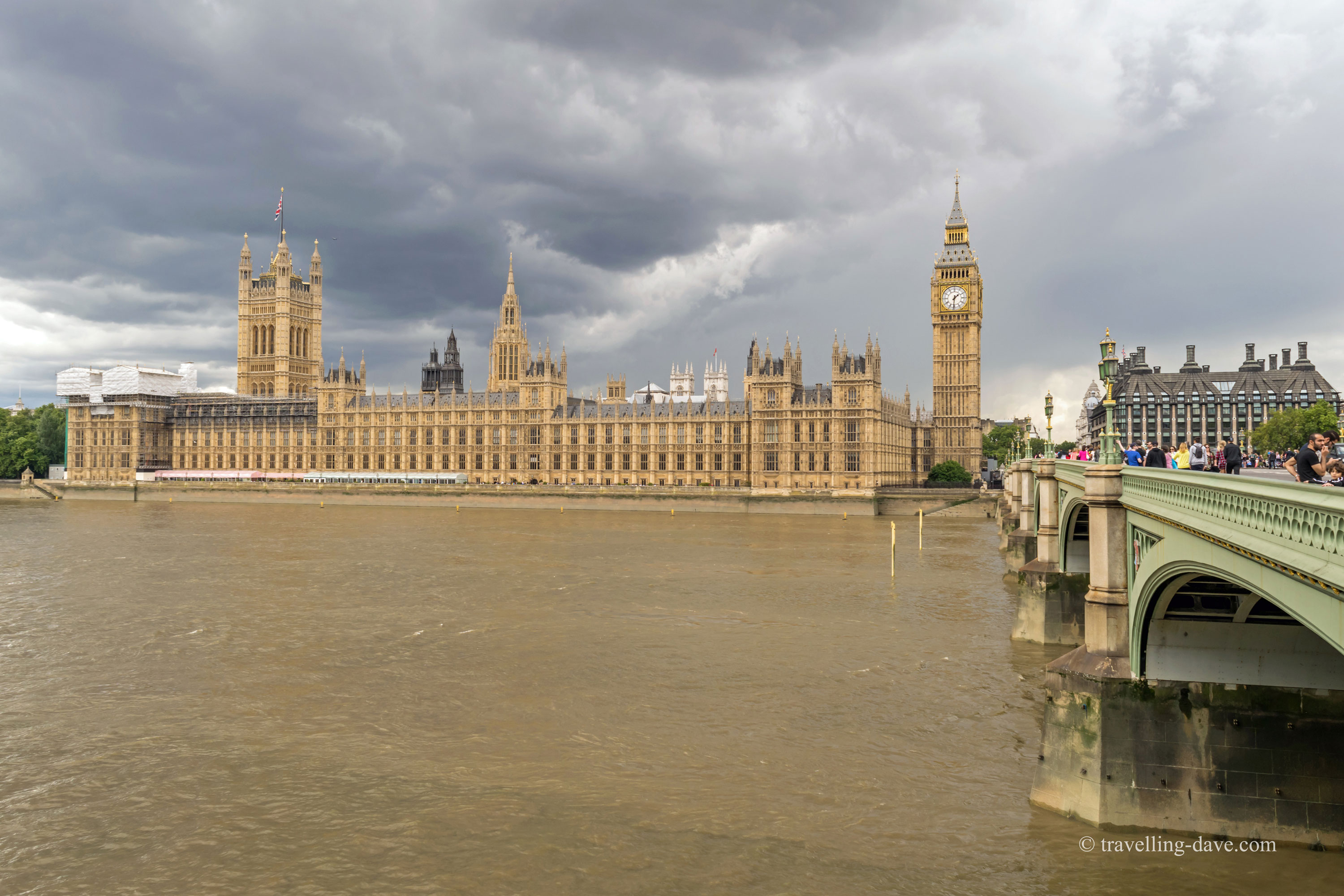 The Houses of Parliament and Elizabeth Tower in London