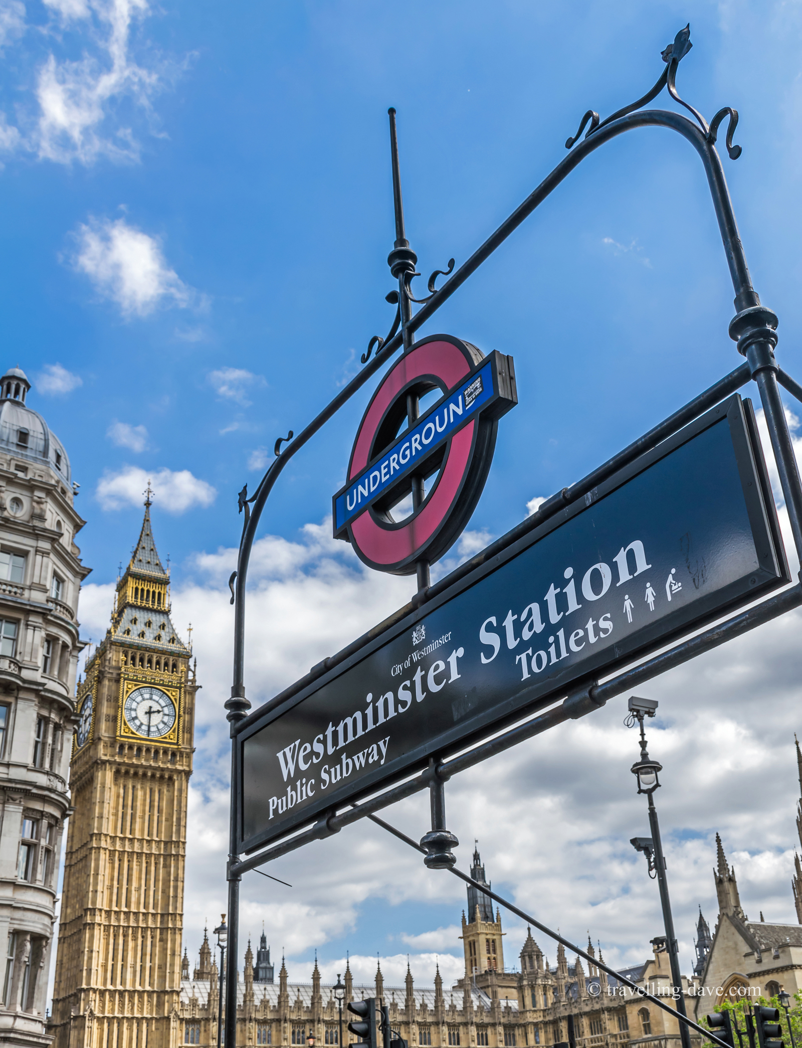 Westminster Underground Station sign