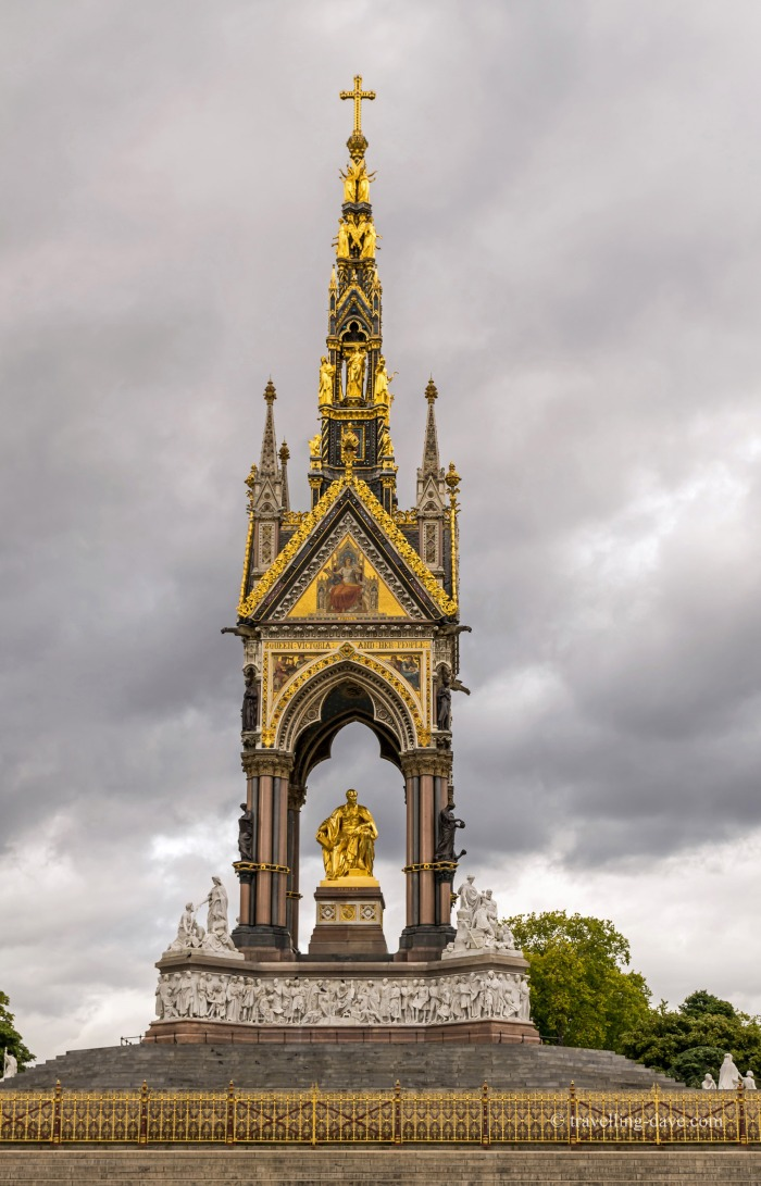 View of the Albert Memorial in London