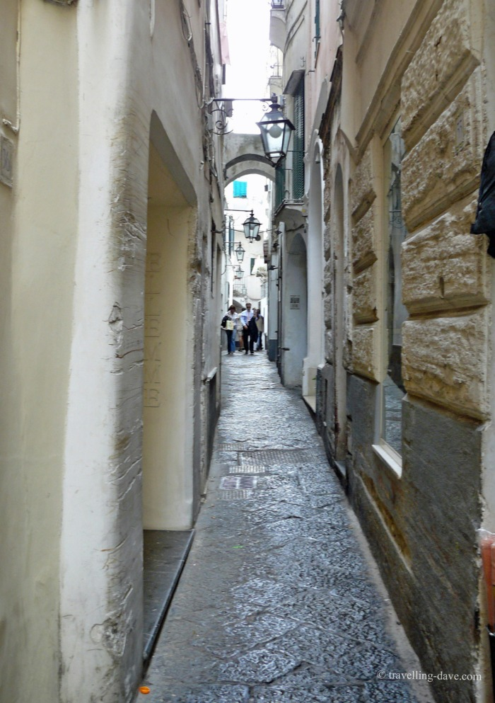 One of Capri's narrow streets