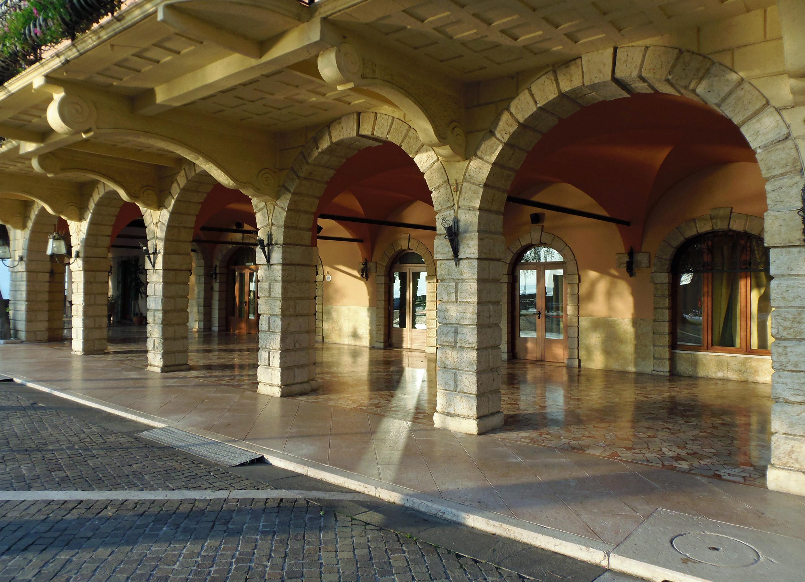 An archway passage in Torri del Benaco, Italy