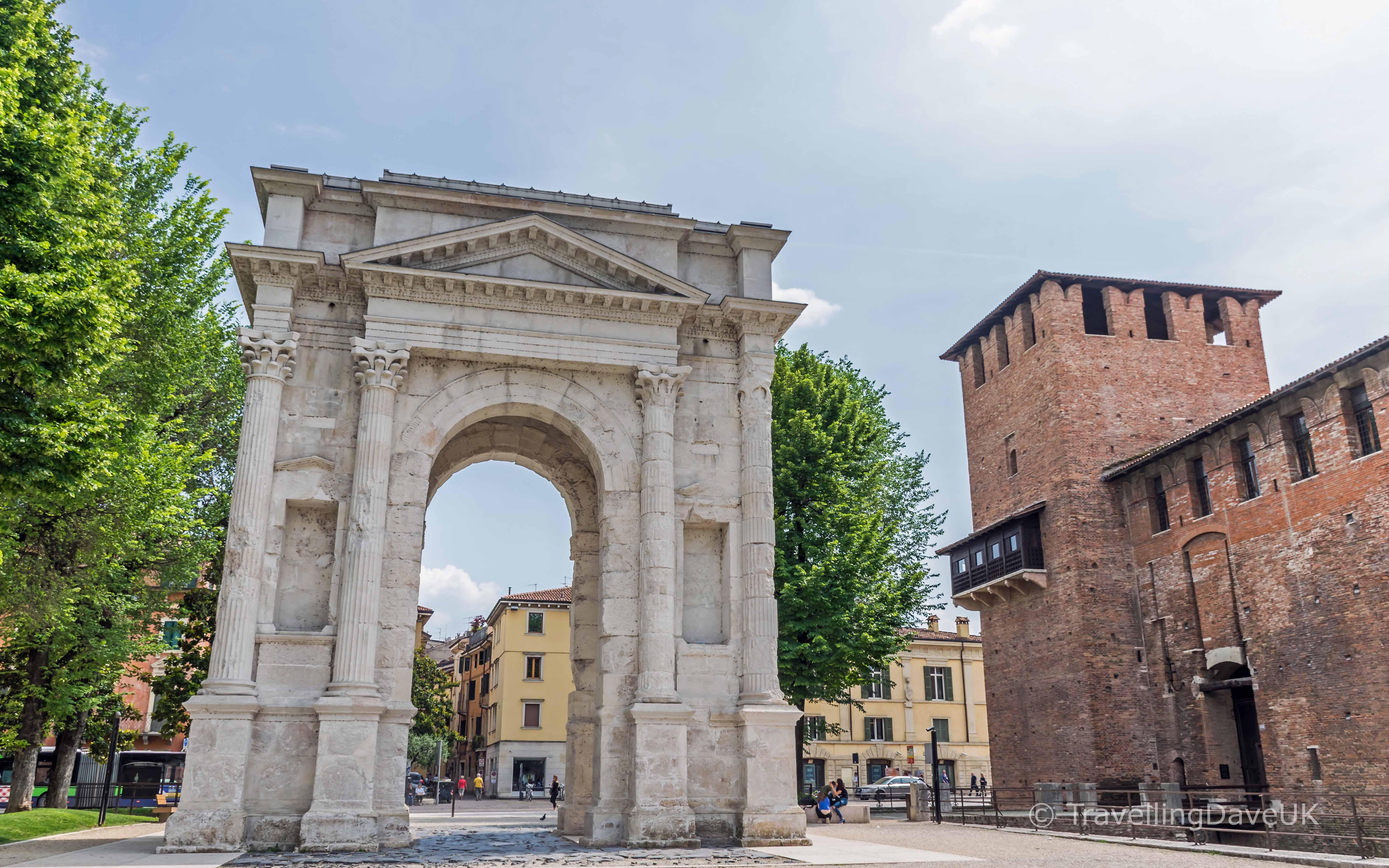 View of the Arco dei Gavi in Verona