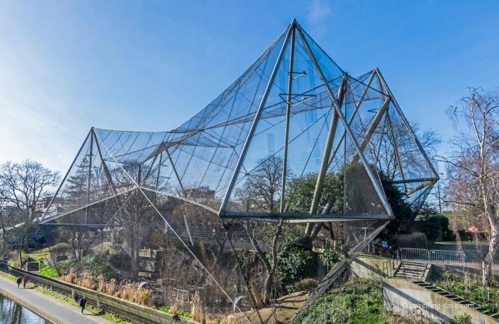 View of London Zoo Snowdon Aviary