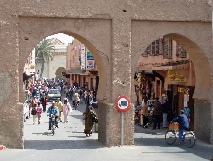 View of Marrakech Bab Aghmat gate