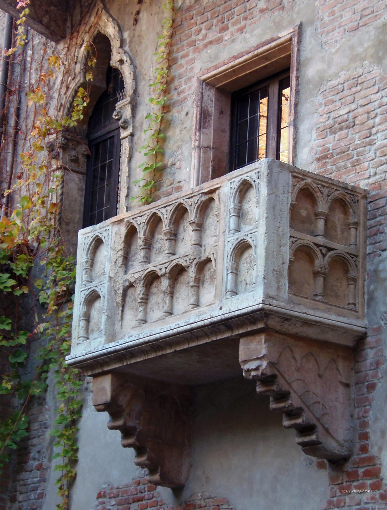 View of Juliet's balcony in Verona