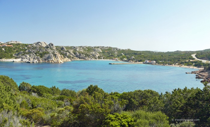 A secluded bay on La Maddalena island