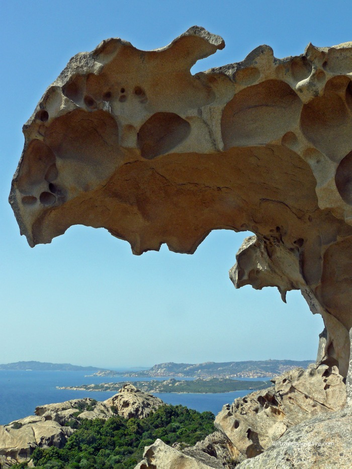 View of Bear Rock in Sardinia