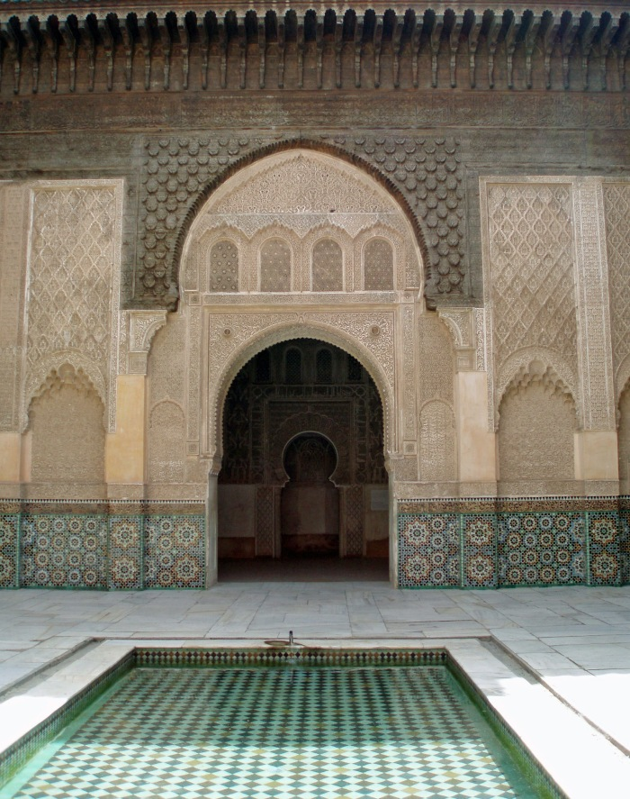 Arches at Ben Youssef Medersa