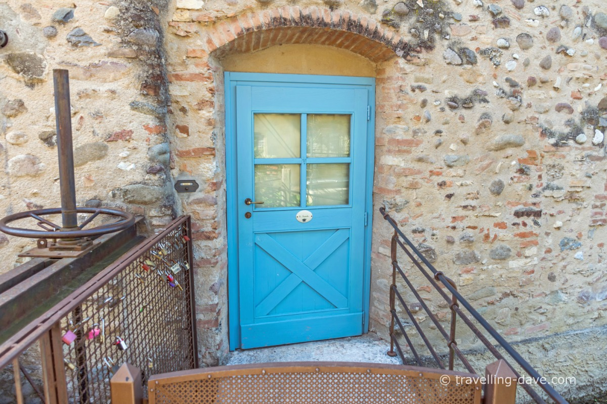 Bed and Breakfast room door at Borghetto sul Mincio