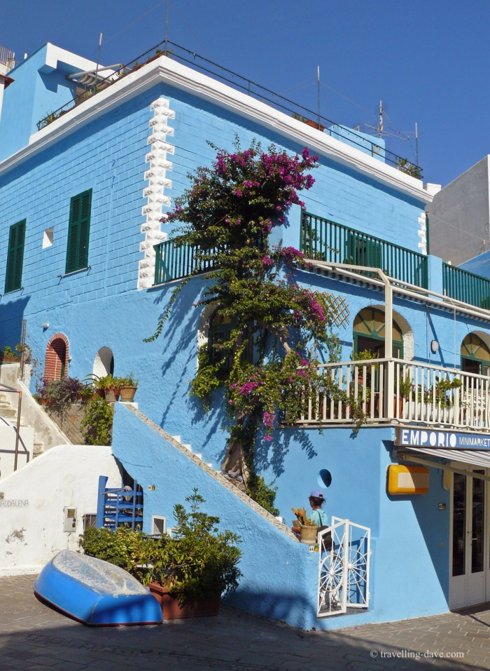 One of Ischia colorful houses