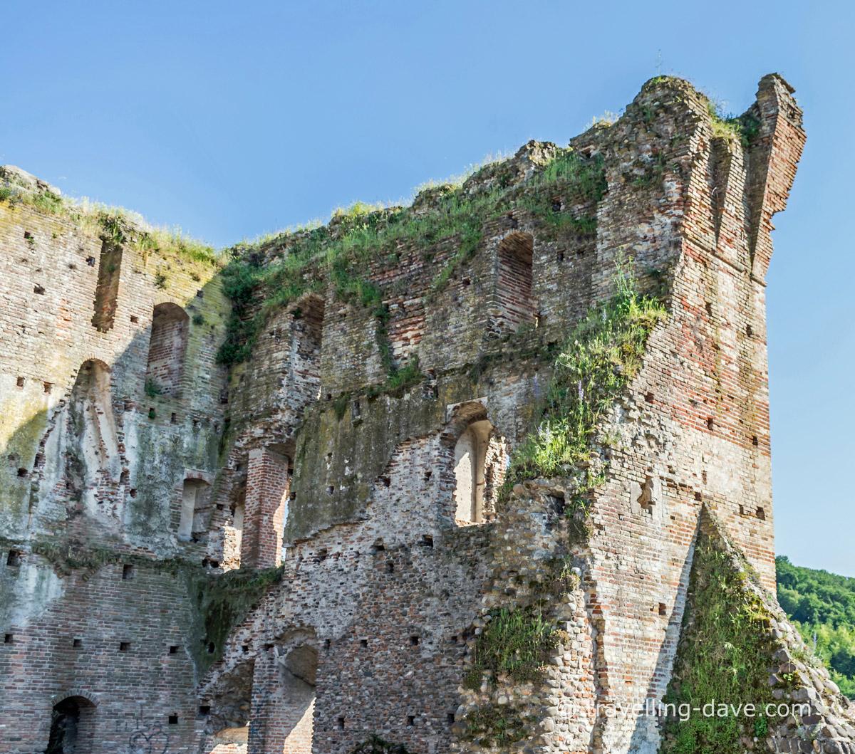 The ruins of the Visconti Bridge near Borghetto sul Mincio