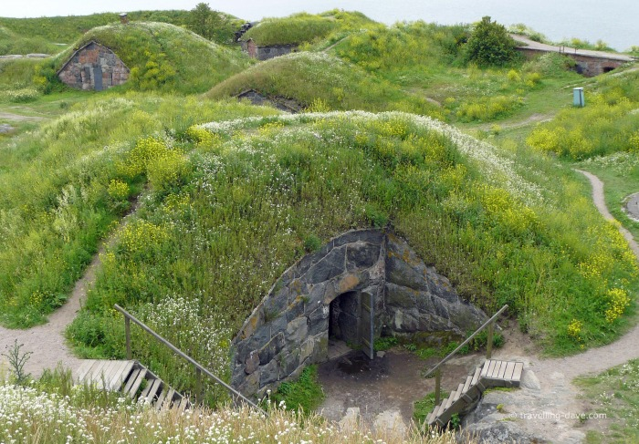 View of some of Suomenlinna bunkers