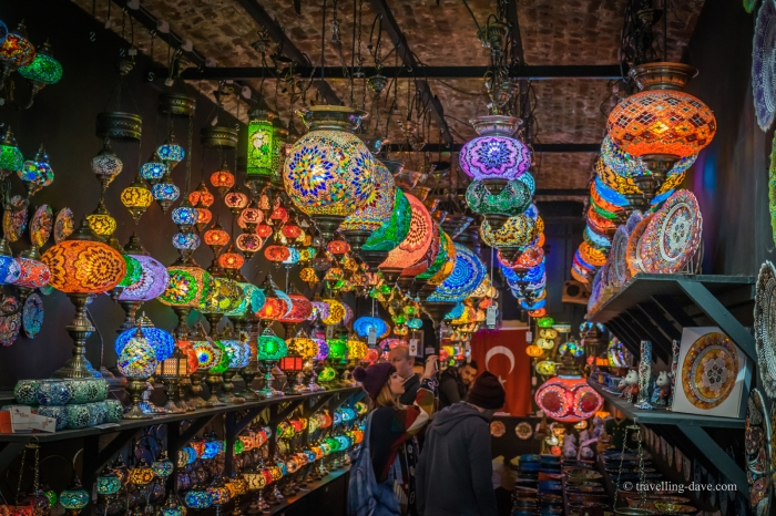 One of Camden Market colorful shops